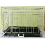 CHROME PLATED DOG CAGE 76X48X53CM