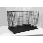 DOG CAGE BLACK ELECTRO COATED 91X58X64CM