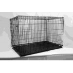 DOGCAGE BLACK ELCETRO COATED122X76X84CM