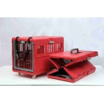 FOLDABLE PET CARRIER W/ WHEELS 55X32X36 CM