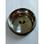 Anti Skid Steel Bowl W/Rubber Coated (LARGE)