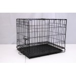 DOG CAGE BLACK ELECTRO COATED 61X46X48CM